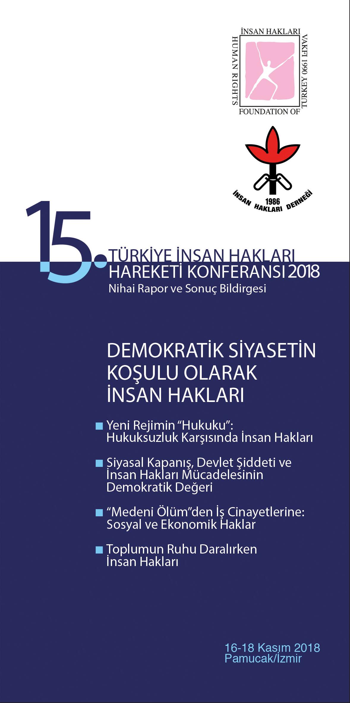 Türkiye İnsan Hakları Hareketi 2018 yılı Nihai Rapor ve Sonuç Bildirgesi