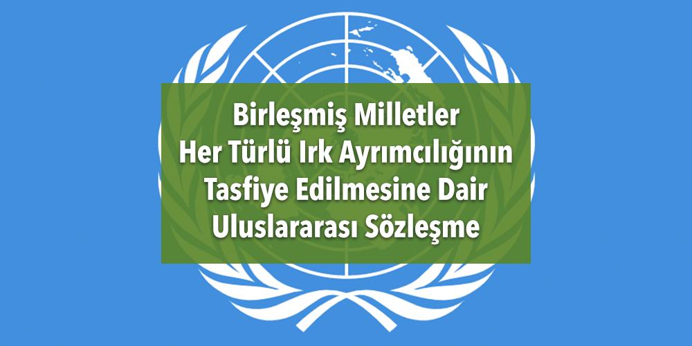BM Her Türlü Irk Ayrımcılığının Tasfiye Edilmesine Dair Uluslararası Sözleşme Görsel