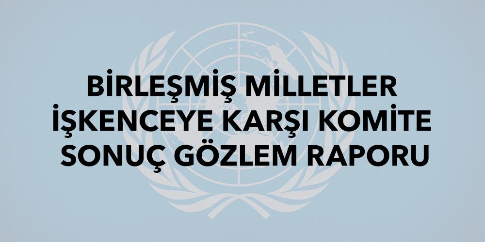 BM İşkenceye Karşı Komite Sonuç Gözlem Raporu Görsel