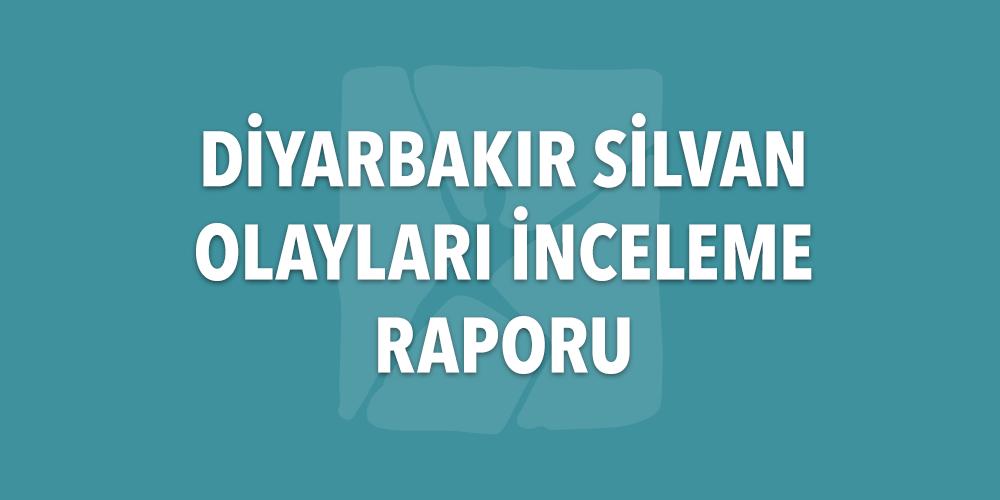 Diyarbakır Silvan Olayları İnceleme Raporu Görsel