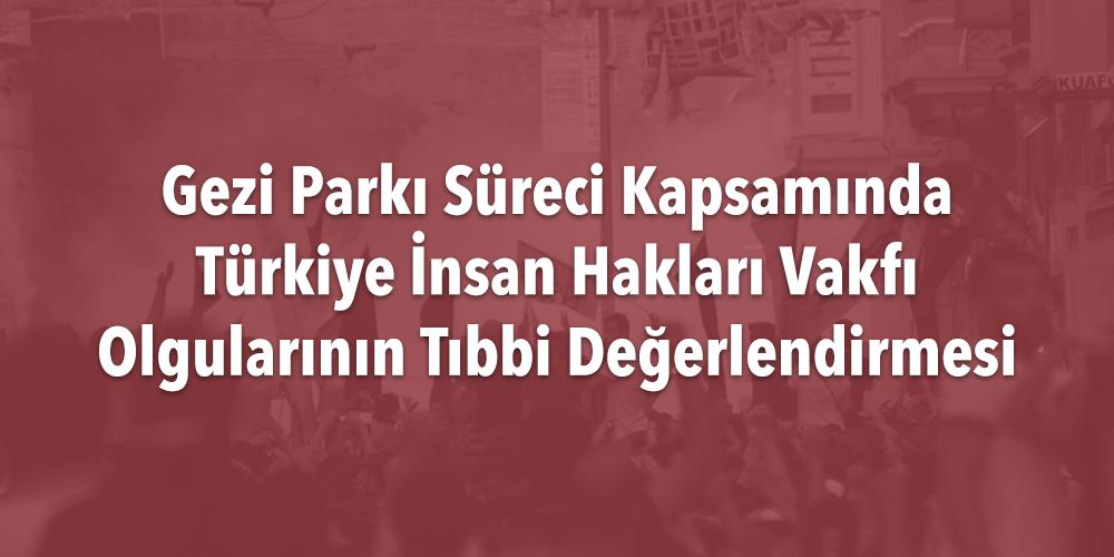Gezi Parkı Süreci Kapsamında Türkiye İnsan Hakları Vakfı Olgularının Tıbbi Değerlendirmesi Görsel